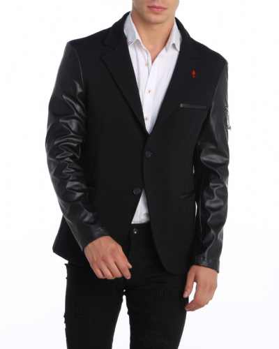 Fargo Mens Designer Tailored fit Blazer Smart Casual Black jackets Coats RRP £200